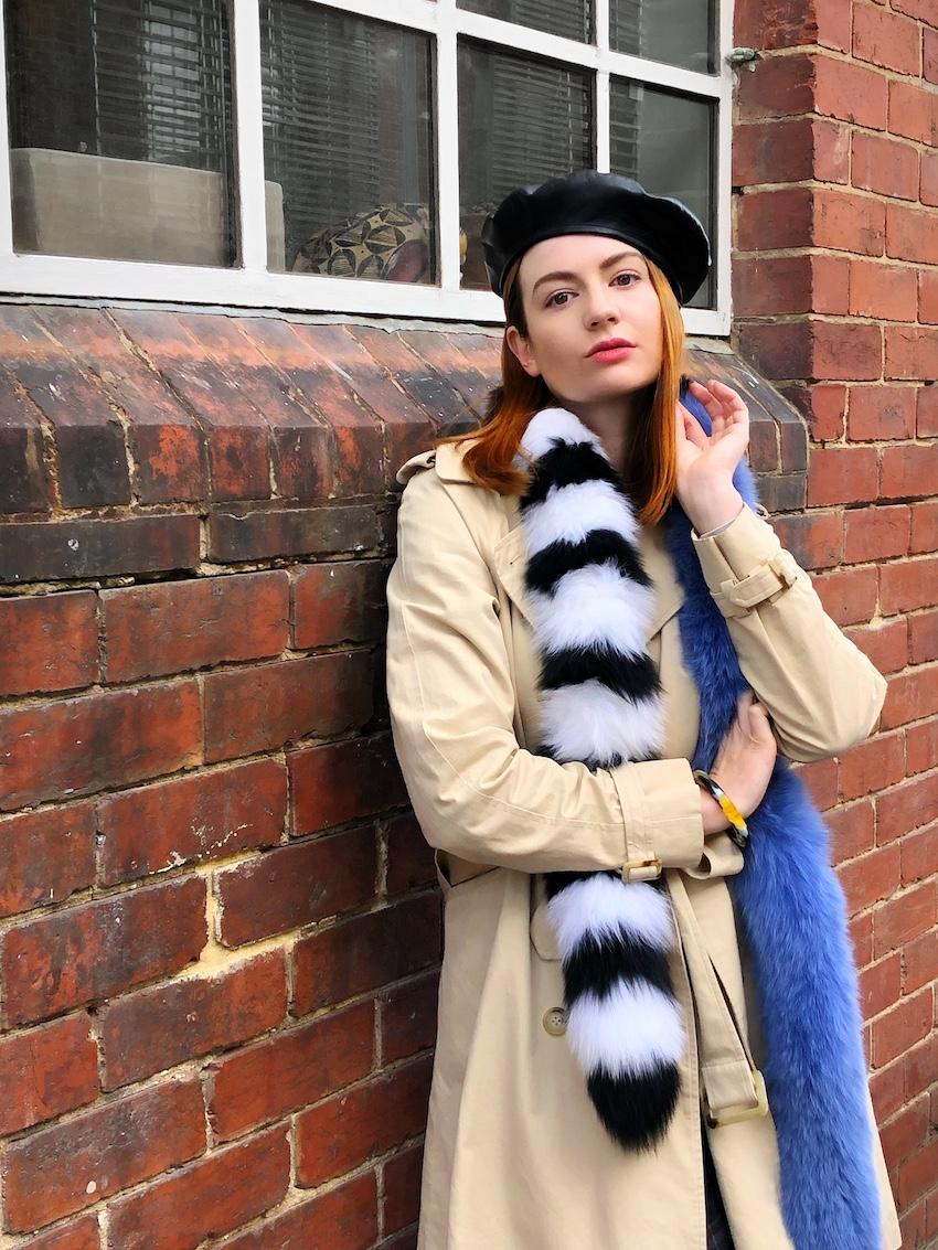 "Melbourne: Simone Devine, ""Vintage Ralph Lauren trench."""