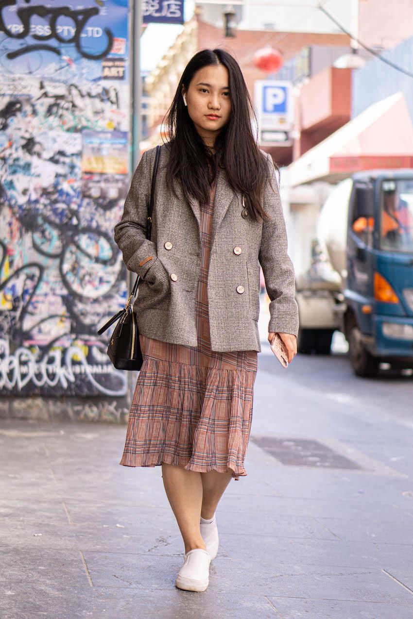 "Melbourne: Zihua Liang, Little Bourke St. ""Lunch date."" Photo: Hannah Guyer"