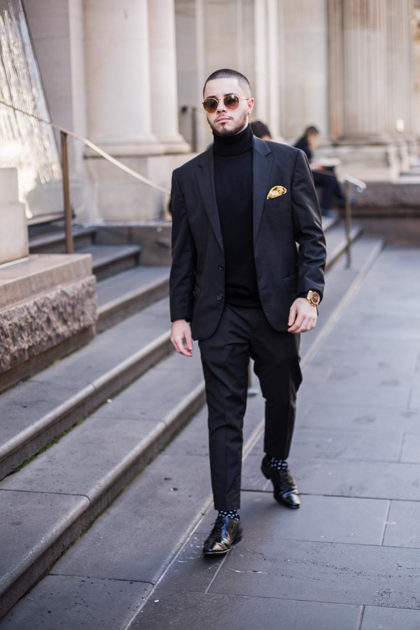 "VIC: Deren Sipahi, footballer, Little Bourke St, Melbourne. ""Godfather."" Photo: Zoe Kostopoulos"