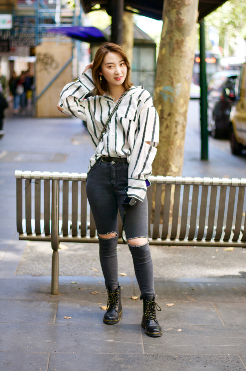"Melbourne: Echo Liu, Interior Design Student, Bourke St. ""I want to look cool."""