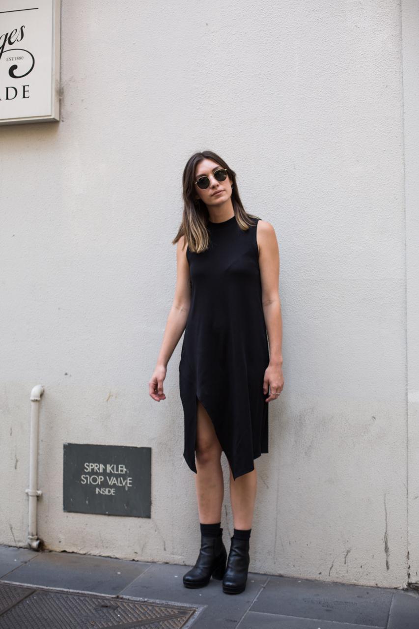 """VIC: Sophie Kuceli, Little Collins St, Melbourne. """"Minimal."""" Photo: Zoe Kostopoulos"""
