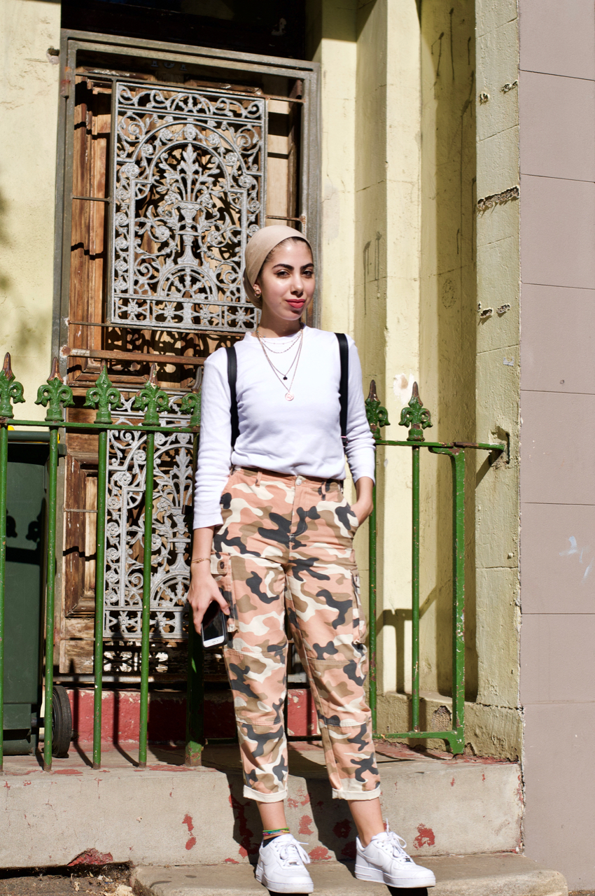 "Sydney: Ayat Jawad, Pharmacy Student, Redfern St. ""Dressed for the mall."""