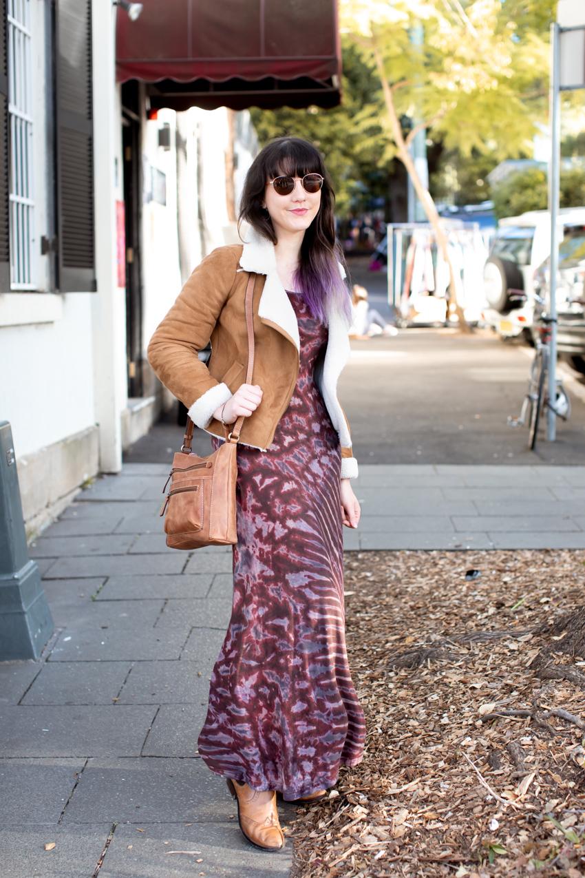"Sydney: Allegra, Francis St Glebe. ""Loving different coats this season."" Photo: Maree Turk"