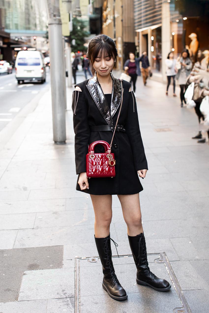 Street Style Australia - Sydney: Joy, Student, Castlereagh St. Photo Maree Turk