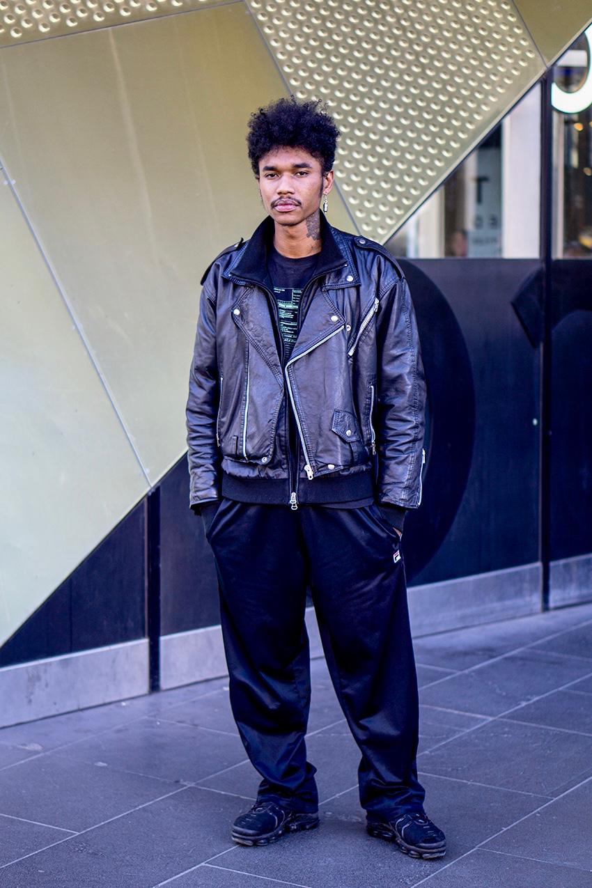 "Street Style Australia - Melbourne: Lucifer, QV Building. ""I like to dance"". Photo: Hannah Guyer"