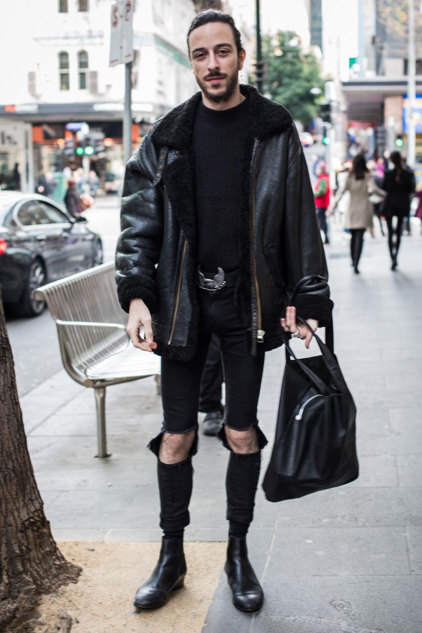 """VIC: Jye Ciavarella, Melbourne. """"I'm all black"""". Photo: Zoe Kostopoulos"""