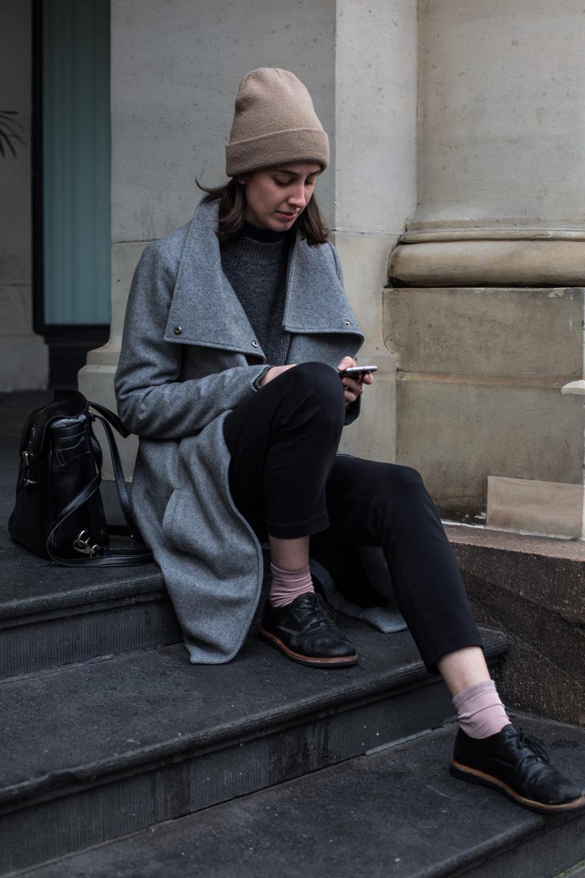 """VIC: Tahlia Landrigan, designer, Melbourne GPO. """"Simple tones."""" Photo: Zoe Kostopoulos"""