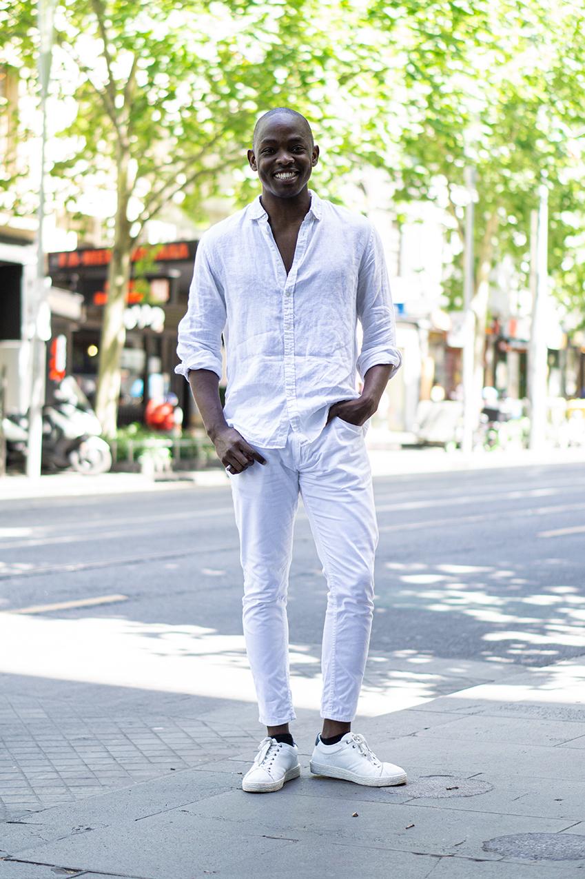 """Melbourne: Amiru Kif, Retail, Swanston St. """"Excited"""". Photo: Hannah Guyer"""