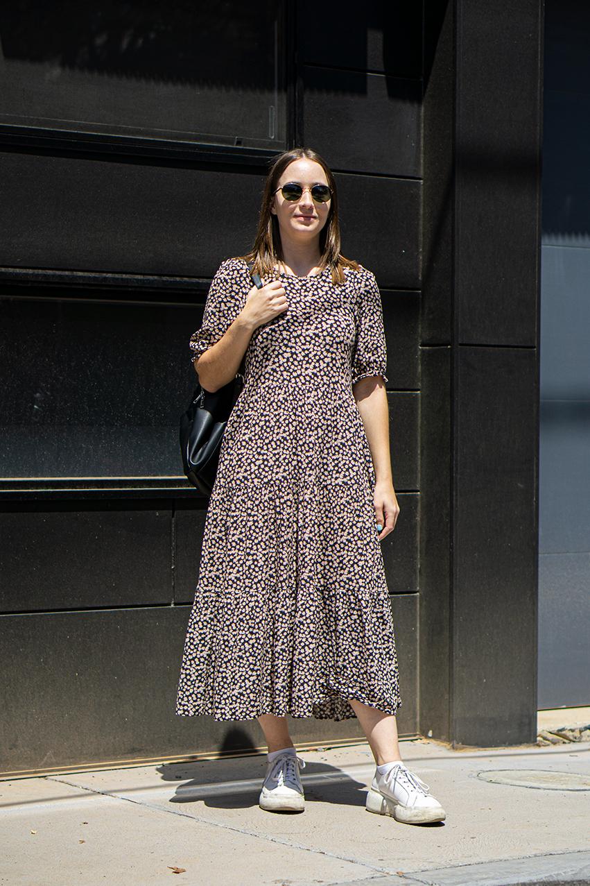 """Melbourne: Lora Smith, Chapel St, """"Wearing Zara."""" Photo Hannah Guyer"""