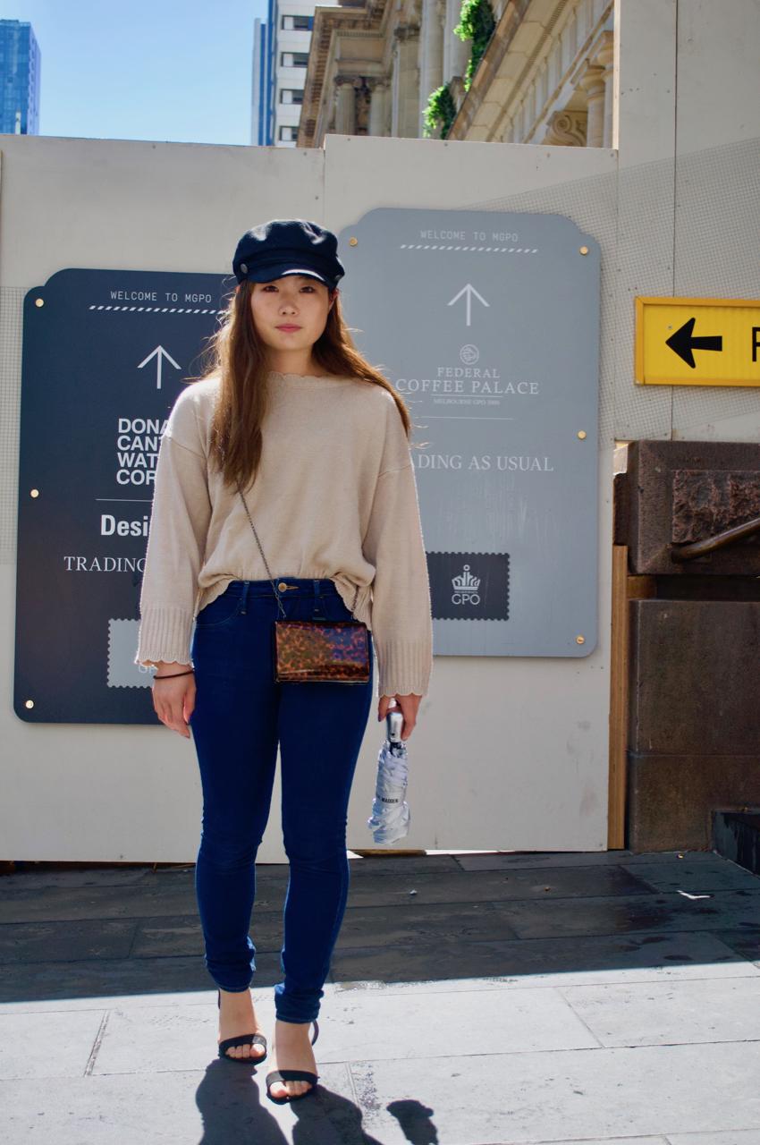 """Melbourne: Risa Yamaoka, Hospitality, Elizabeth St. """"Going shopping""""."""
