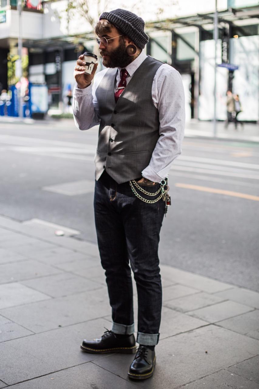 """VIC: Benji Colbourne, retail, Swanston St. """"Verrrrnnno."""" Photo: Zoe Kostopoulos"""