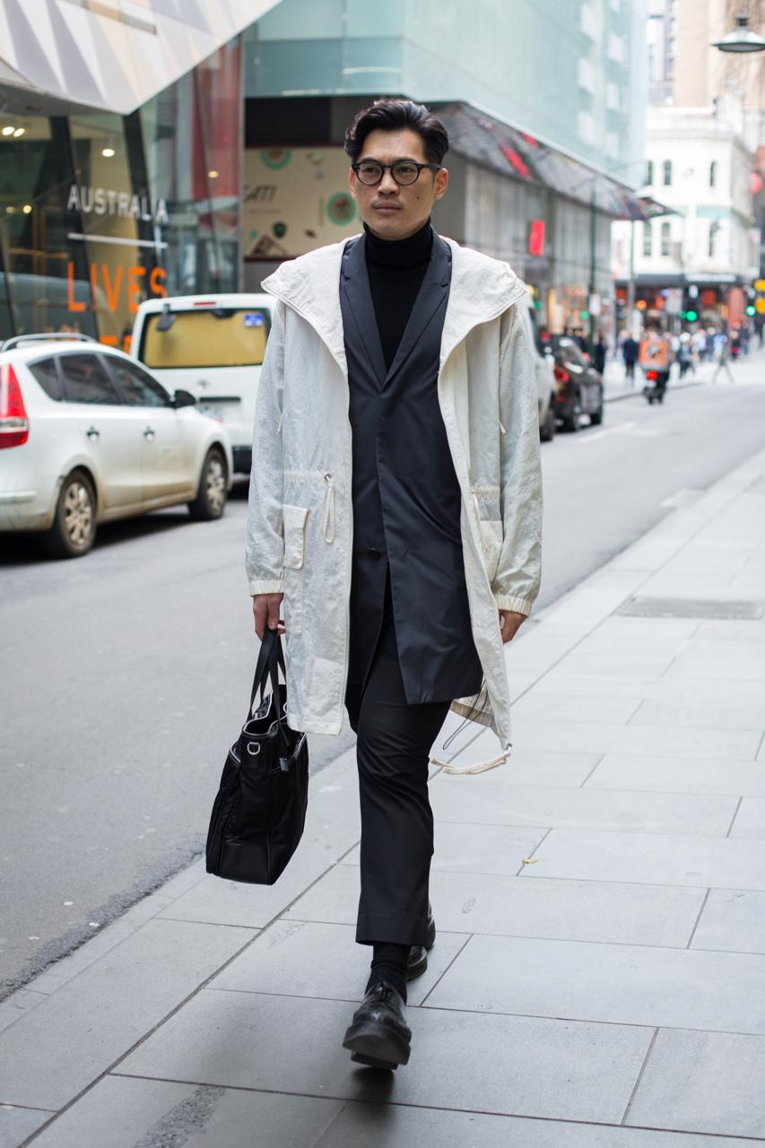 "VIC: Didva Wong, Visual Merchandiser, Little Bourke St, Melbourne. ""Modern Preppy."" Photo: Zoe Kostopoulos"