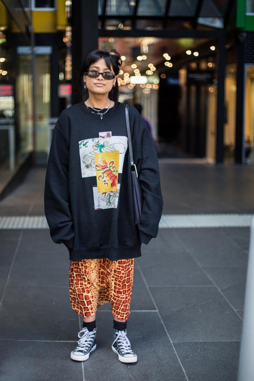 "VIC: Shezanne Sadiker, retail assistant, Swanston St, Melbourne. ""Just do you."" Photo: Zoe Kostopoulos"