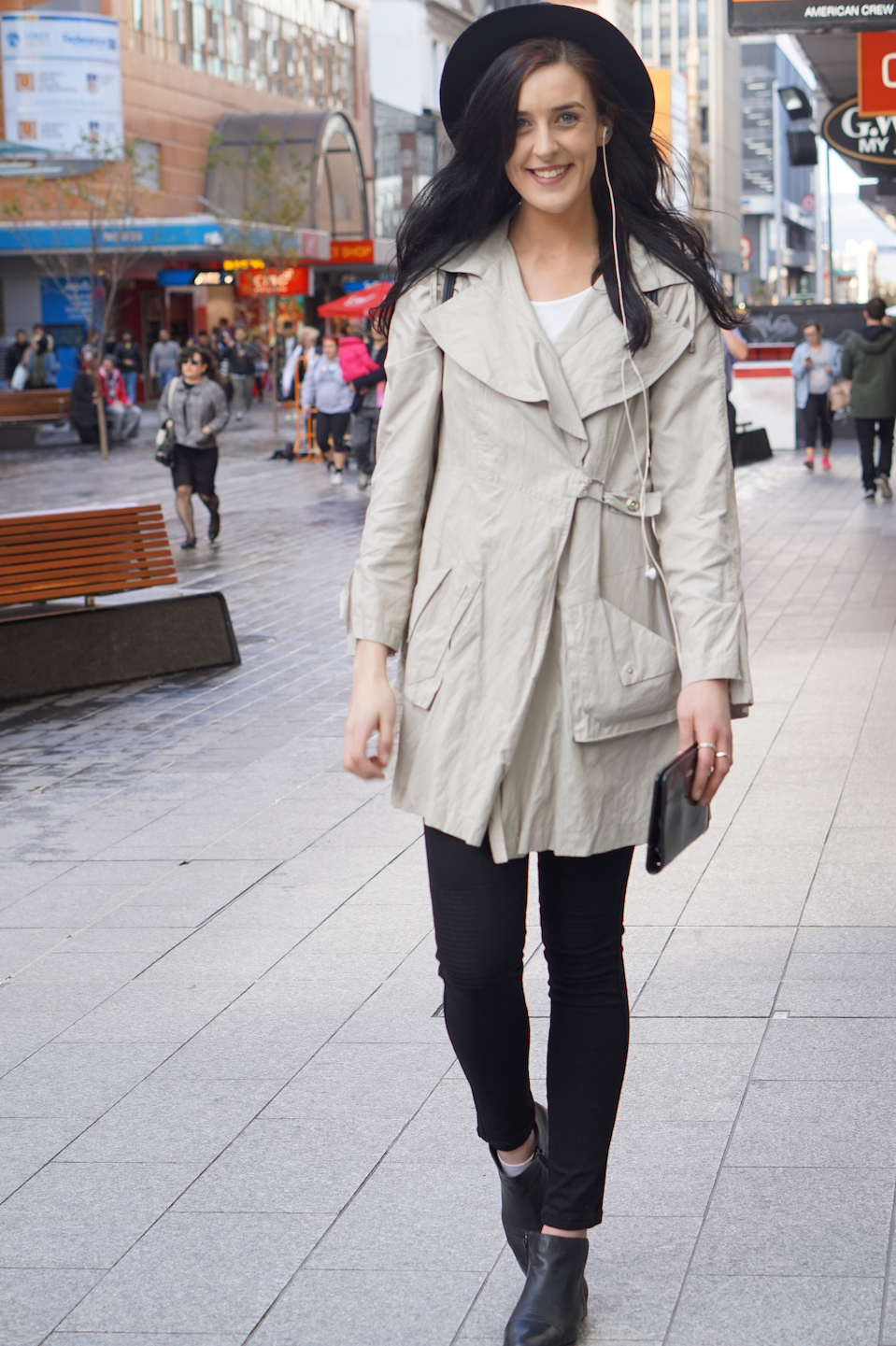 "SA: Jessica, Pet Minder, Rundle Mall. ""I love my winter wardrobe!"""