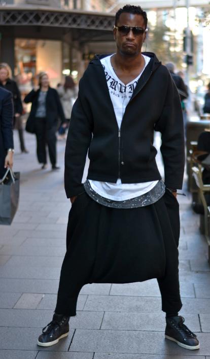 "NSW: Jerrell Scott, designer, Pitt St. ""My personal style's Me!"" Photo: Alice Scriberras"