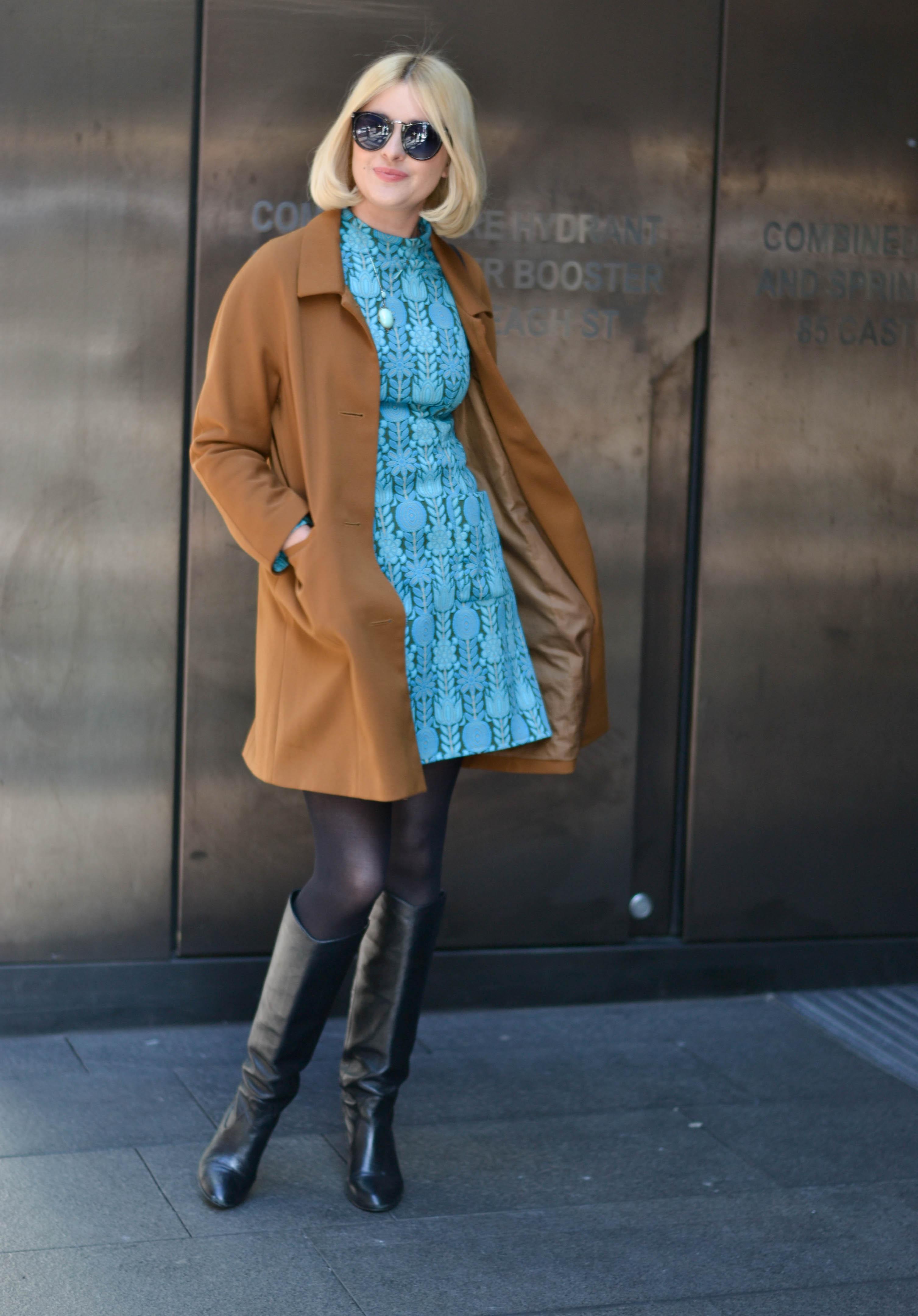 NSW: Annette Ogilvie, stylist and  artist, Castlereagh St, Sydney. Photo: Alice Scriberras.