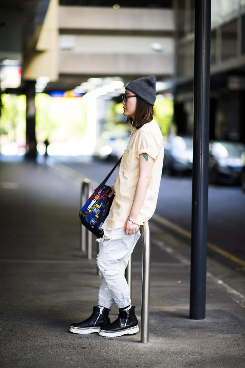 "SA: Lui, student, Adelaide. ""I'm food shopping!"" Photo: Eli Francis"