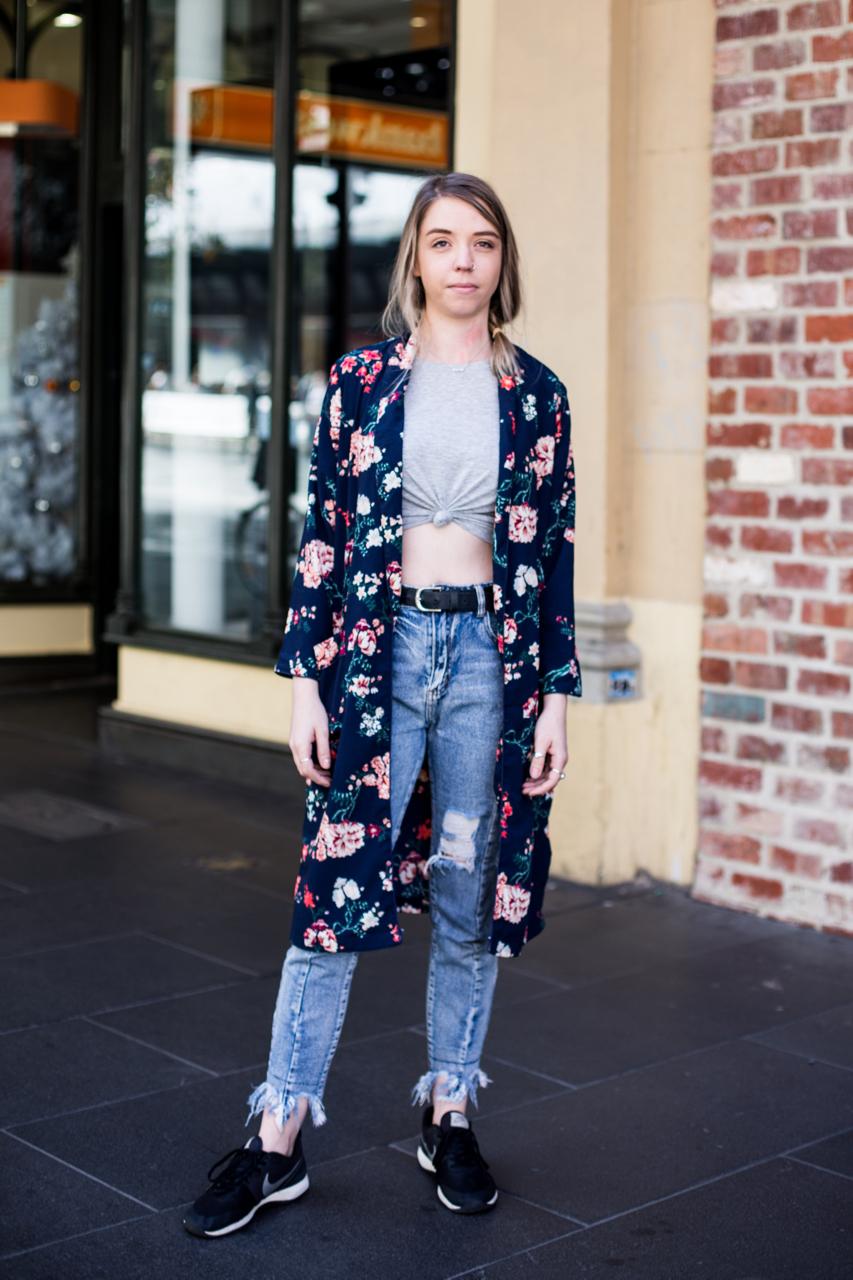 "VIC: Erin Wenzel, Sales Assistant, GPO, Melbourne. ""Simple."" Photo: Zoe Kostopoulos"