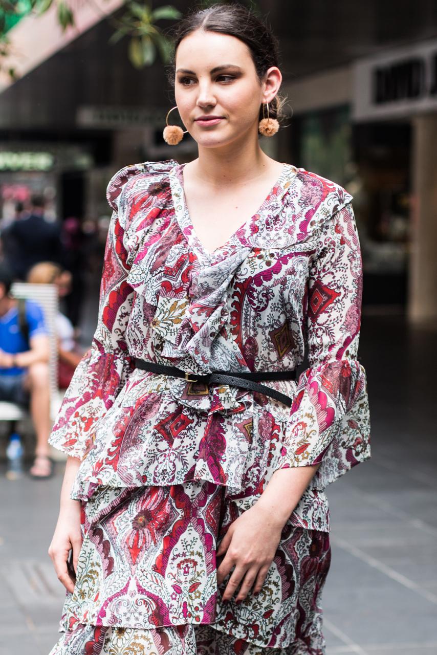 "VIC: Azzurra, Retail Manager, Bourke St, Melbourne. ""Boho chic."" Photo: Zoe Kostopoulos"