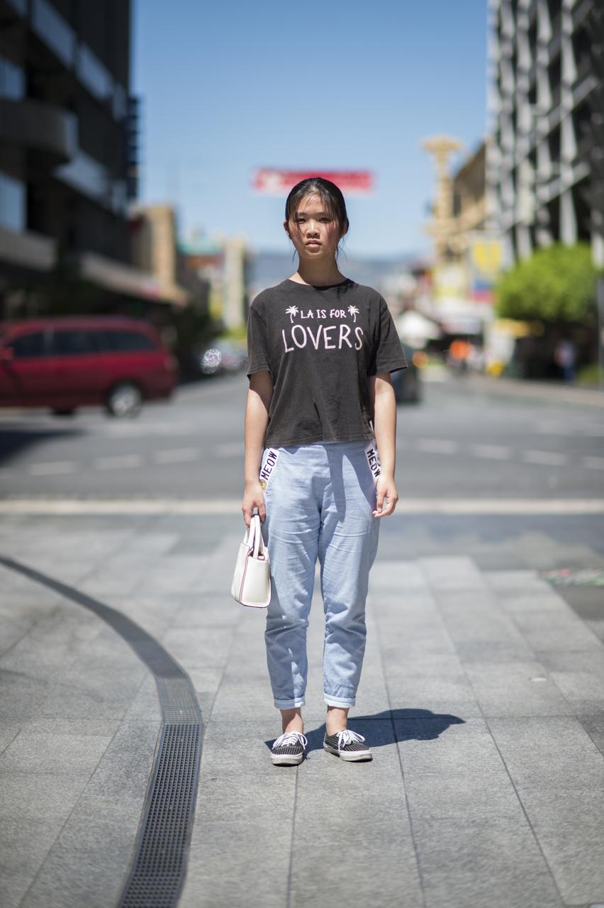 SA: Jessica Wang, Rundle Mall, Adelaide. Photo: Eli Francis