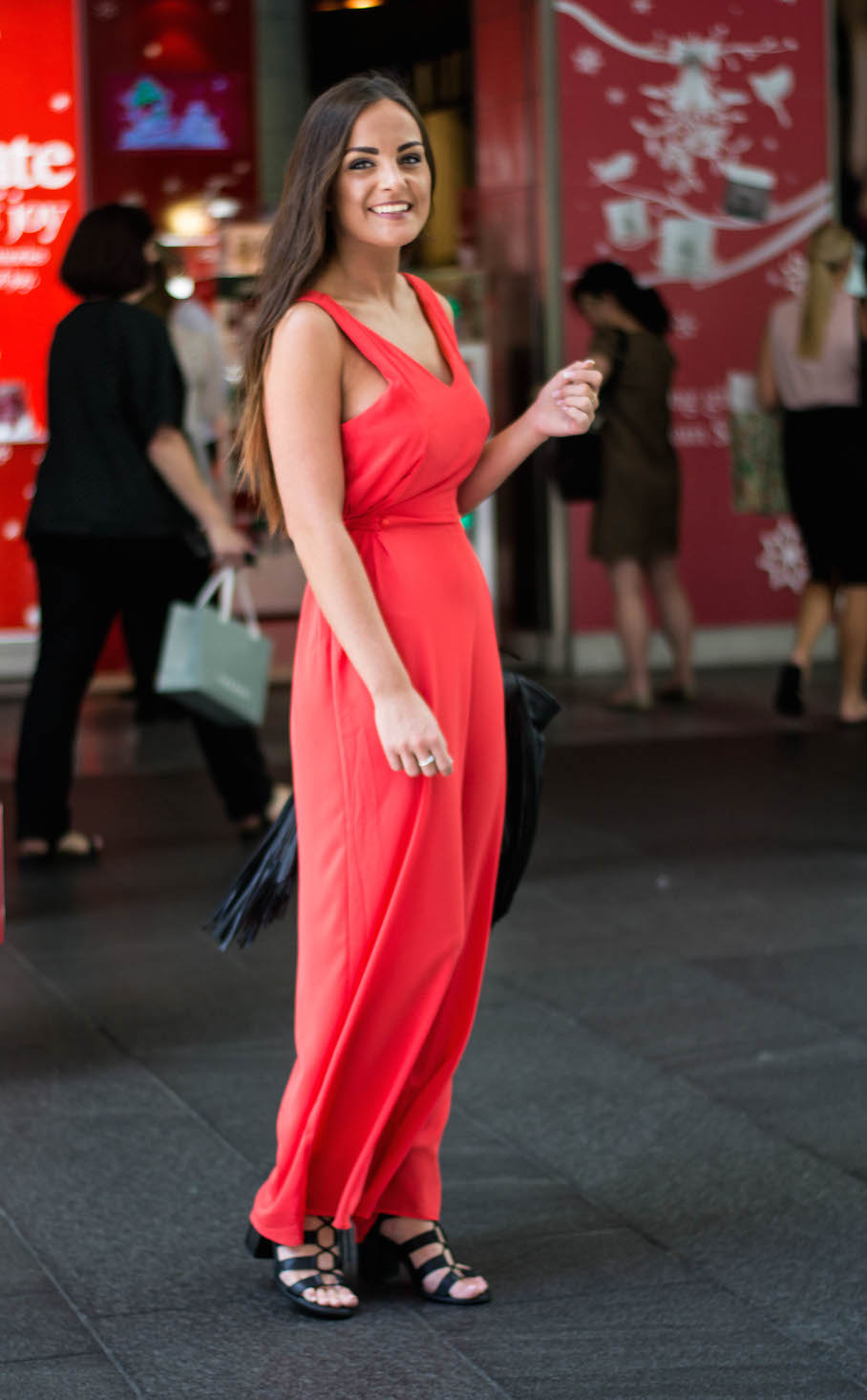 "NSW: Sian Young, Cabin Crew, down town Sydney. ""Red's my colour."" Photo: Alice Sciberras."