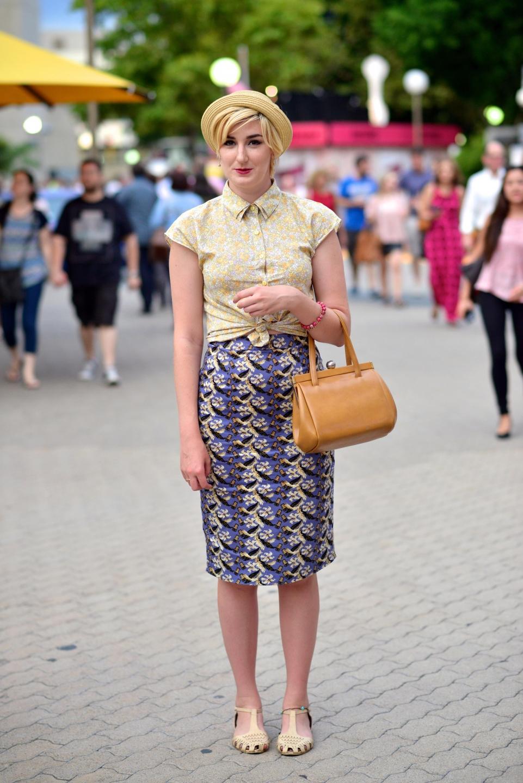 "WA: Student Emily Hird, Fringe World Festival Perth. ""I'm a Vintage Girl."""