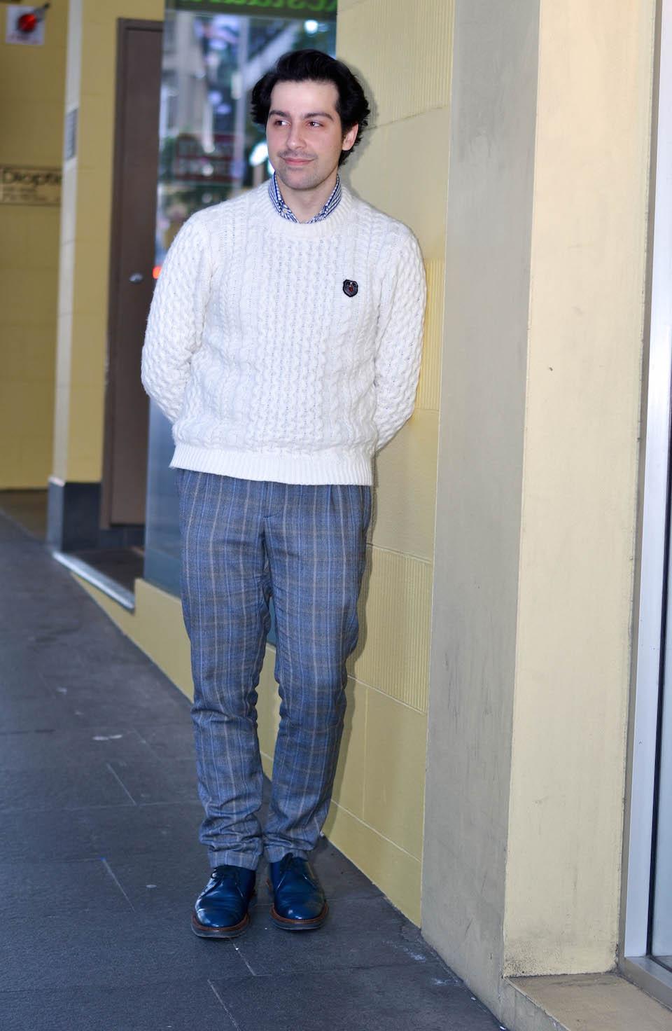 NSW: Alexander Yaghldjian, spotted in Sydney by Alice Scriberras.