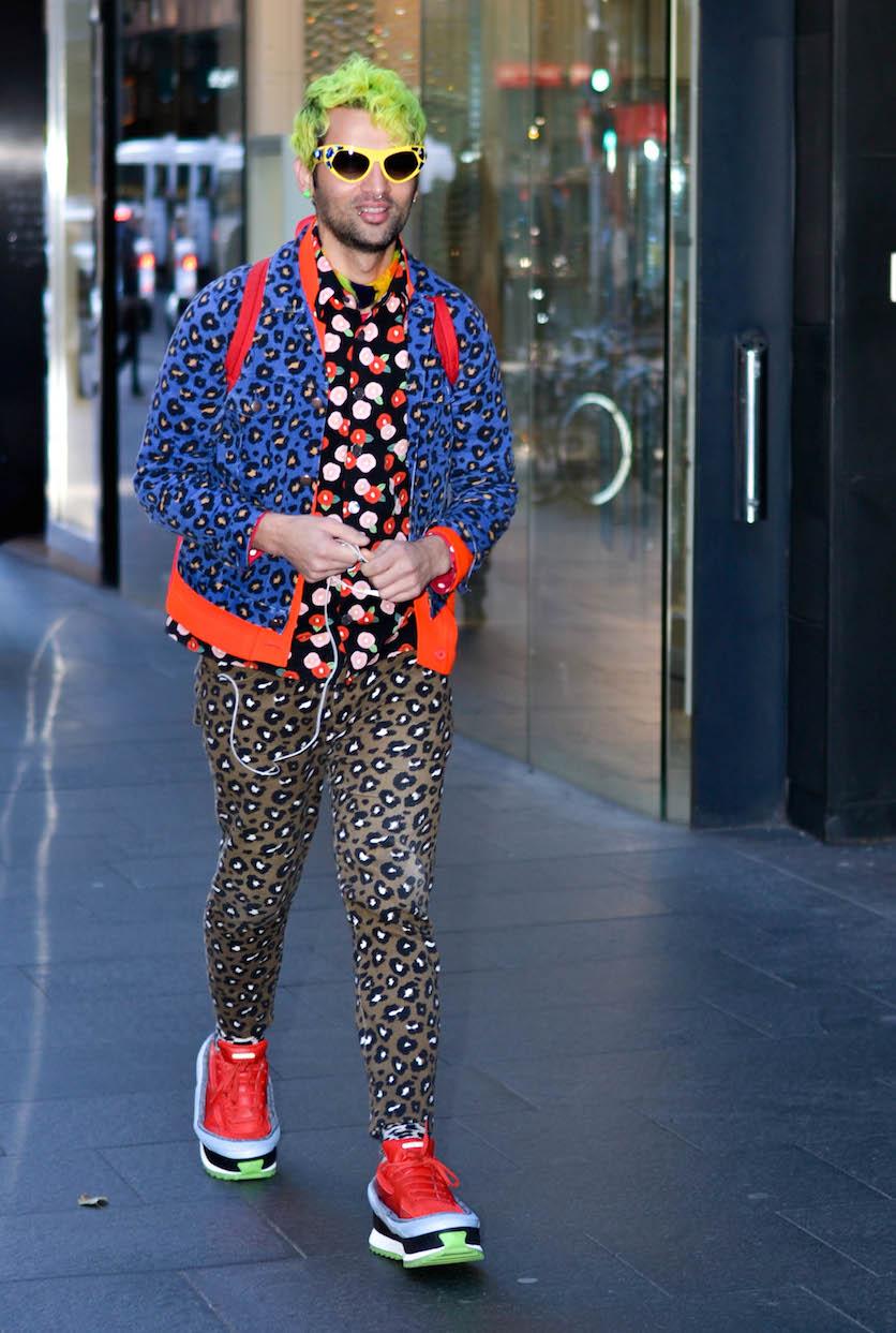 "NSW: Gary Bigeni, designer, Sydney CBD. ""I like to think my style's a bit of everything"". Photo: Alice Scriberras"