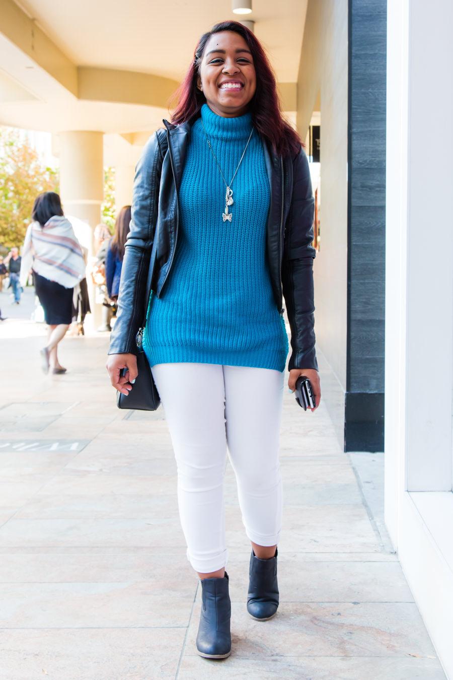 "WA: Thathianna Petit, Student, Perth City.  ""I like casual wear."" Photo: <a href=""http://www.rahstudios.com.au/street-style.html/"" target=""_blank"">Alain Quah</a>"