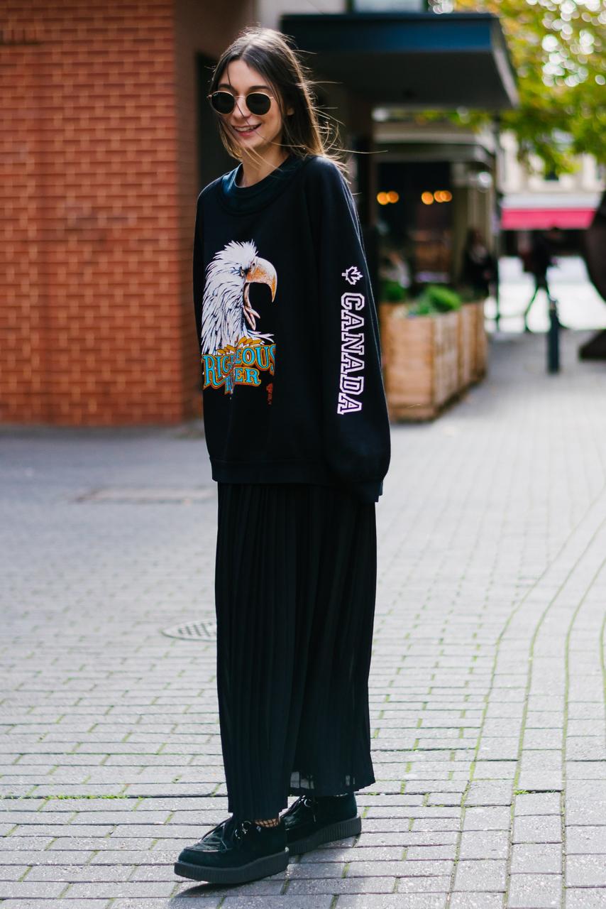 "SA: Susannah Ioannou, Editor Teo Magazine, Rundle St East. ""I love dressing for comfort and often borrow my boyfriend's clothes."""
