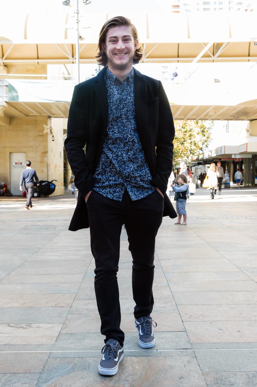"WA: Benjamin McConnell, History Student, Murray Street. ""I wear what my girlfriend tells me to."" Photo: <a href=""http://www.rahstudios.com.au/street-style.html/"" target=""_blank"">Alain Quah</a>"
