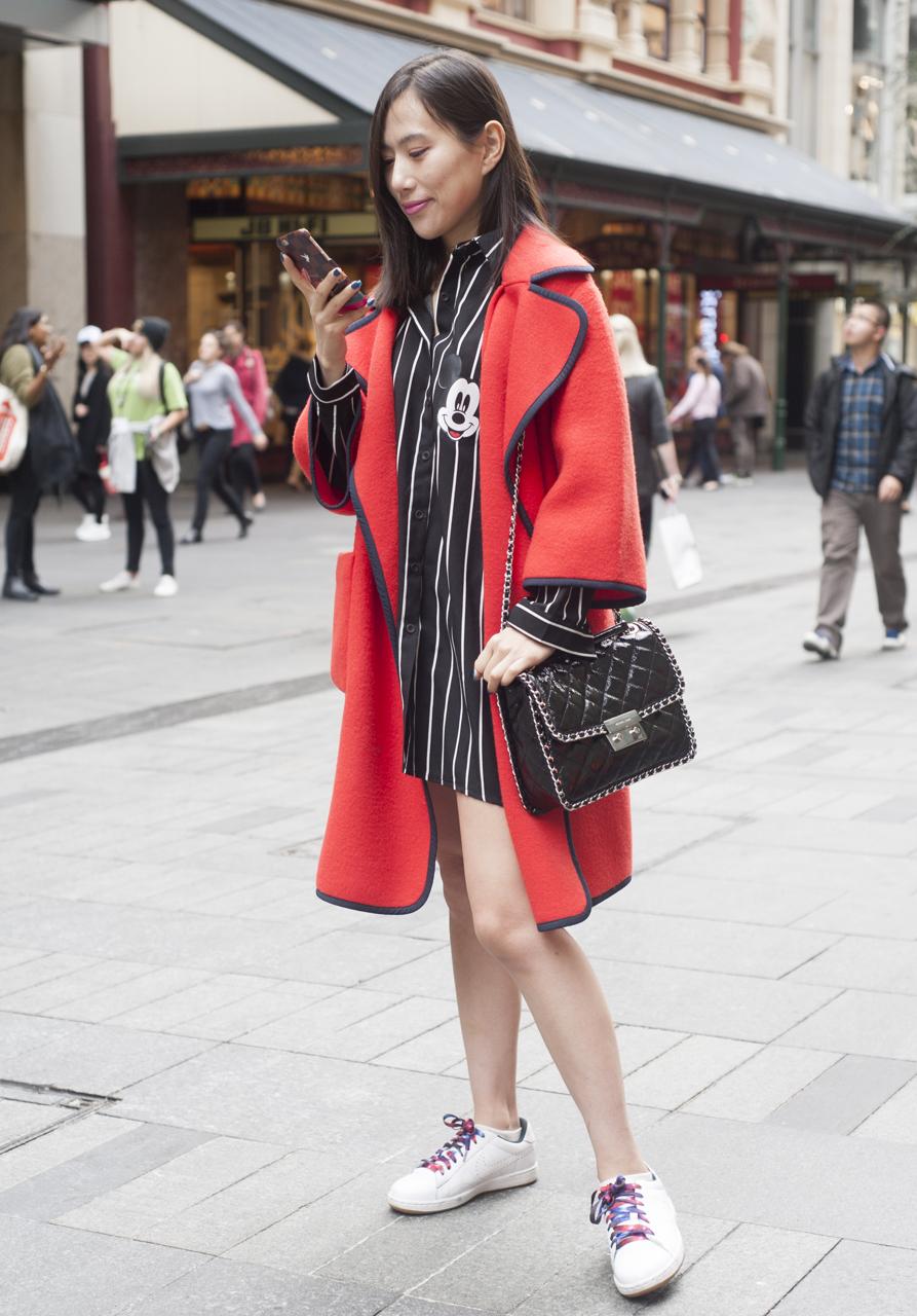 "NSW: Crystal Li, Finance Student, Westfield. ""I like to look cute and sexy."" Photo: Rachel Yabsley"