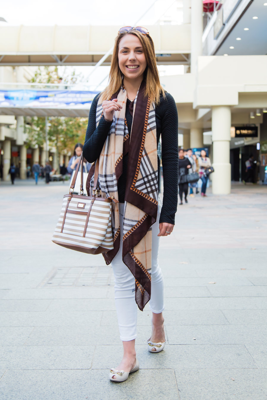 "WA: Chloe Hall, student, Perth CBD. Style: ""Neutrals all the way."" Photo: <a href=""http://www.rahstudios.com.au/street-style.html/"" target=""_blank"">Alain Quah</a>"
