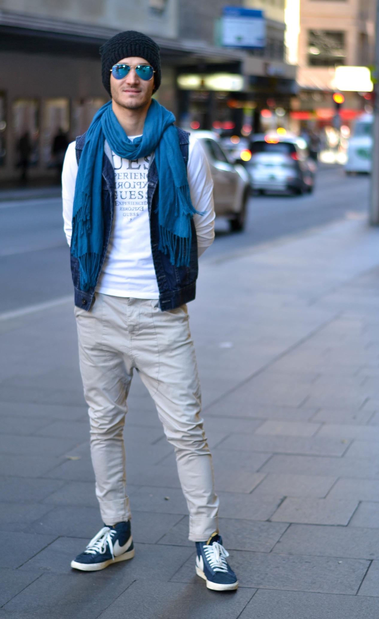 NSW: Toscan Luca, musician, Castelreagh St, Sydney. Photo: Alice Scriberras.