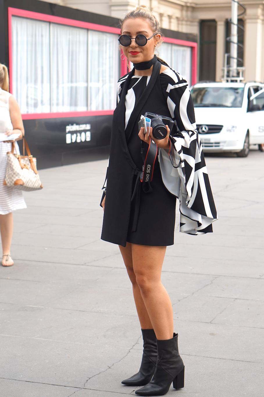 "Vic: Sara Richardson, Retail, VAMFF. ""Sunglasses are my main element. I build my outfit around them."""
