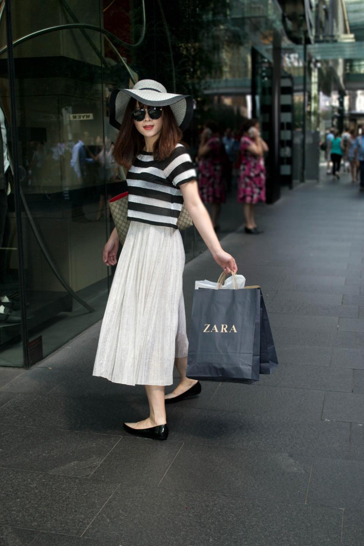 "Vivan, Sydney, CBD. ""I like to wear a mix of styles together."" Photo: Alice Sciberras"