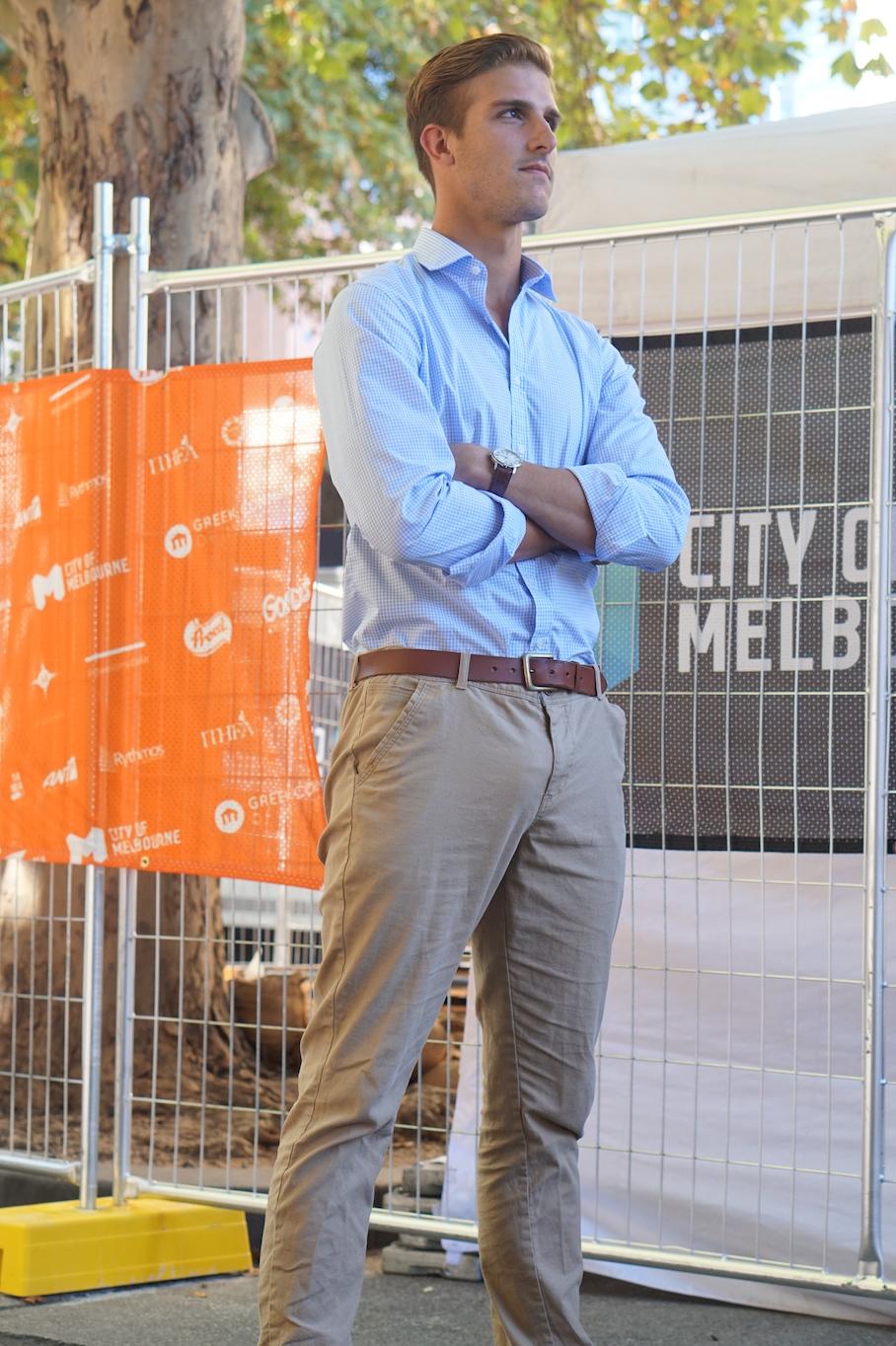 "Vic: Michael Blackstock, Director, Melbourne CBD. ""I love a good strut."""
