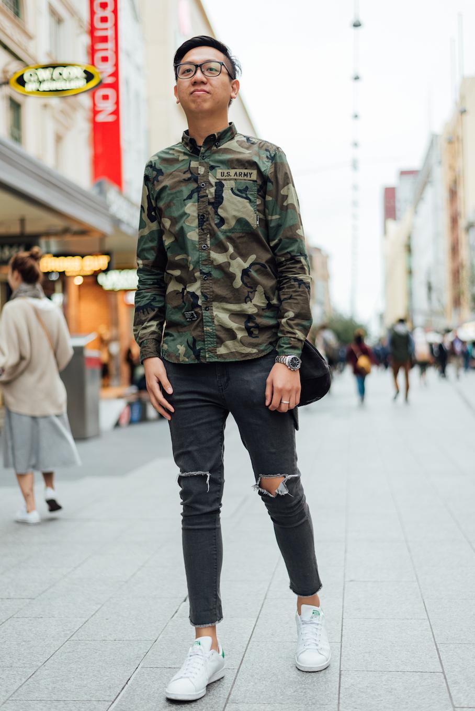 "SA: Sai Cheong Yuen, student, Rundle Mall. ""I've got a practical style."""