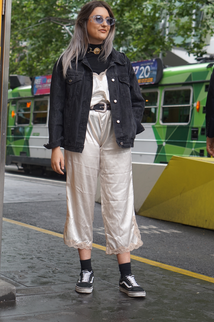 "Vic: Tayor Walker, Student, Swanston Street. ""I study fashion and work in fashion retail."""