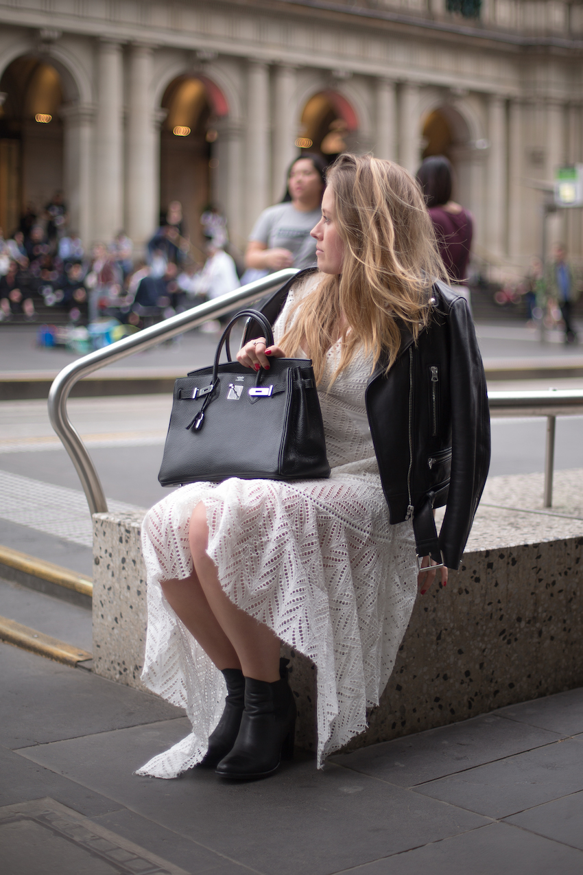 "Vic: Georgie Sagger, Social Media Manager, Bourke St Melbourne. ""My personal style is a combination of girl-next-door and lace."" Photo: Ryan Murch"