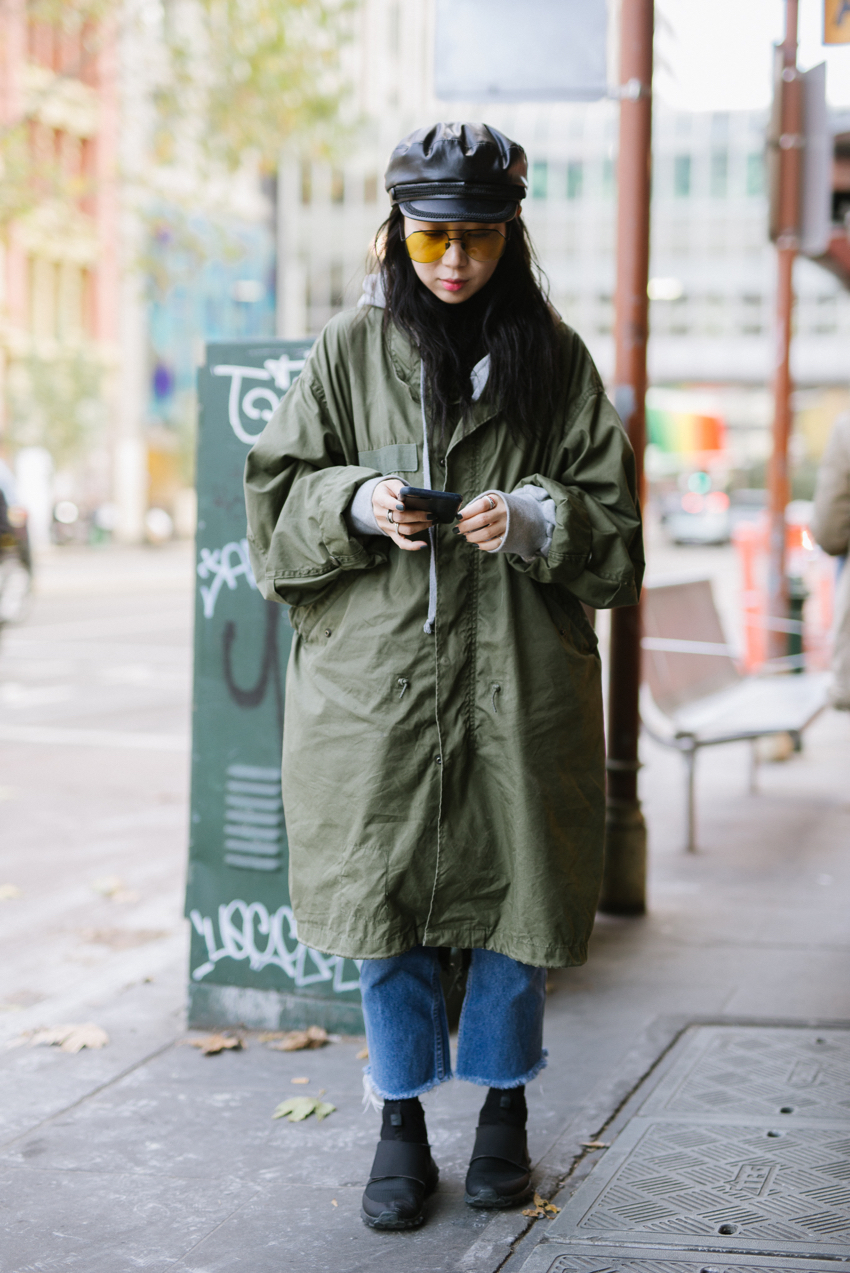 """VIC: Hee Lin Jung, Flinders St, Melbourne. """"Working at hair expo."""""""