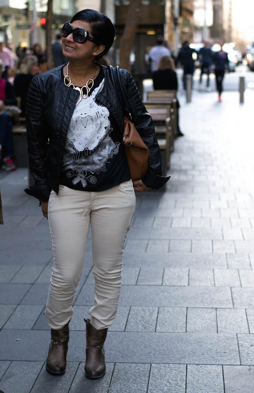 NSW: Liza Taljaord, snapped in Pitt St Sydney by Alice Scriberras.