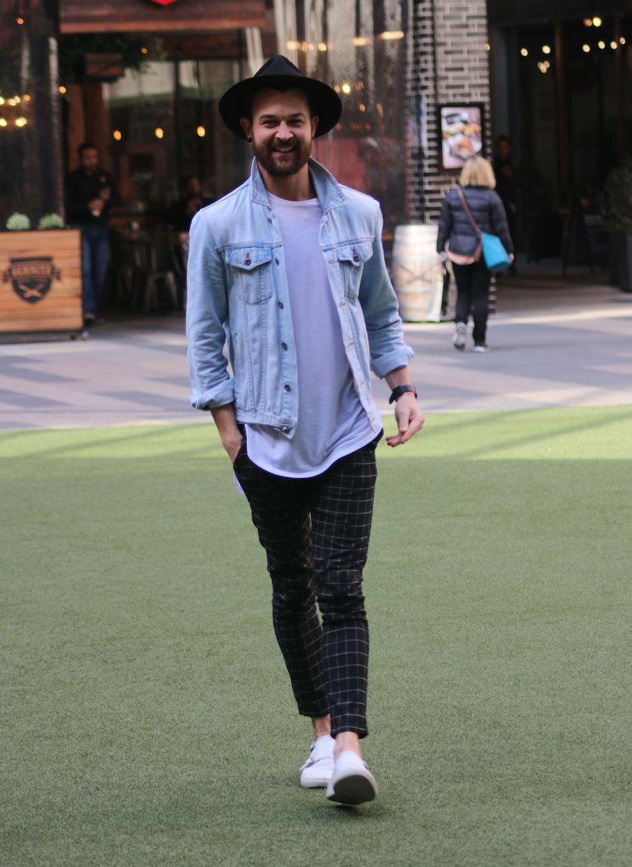 "Vic: Luke Williams, Visual Merchandise Manager, QV Square, Melbourne. ""I like simple lines – a Scandanavian feel."" Photo: Tracie Sullivan."