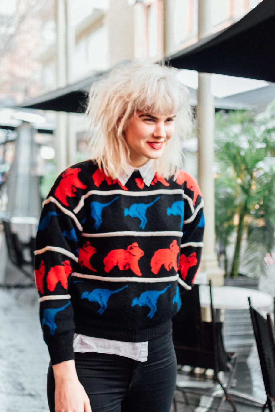 "SA: Rebecca Sandridge, Musician, Peel St Adelaide.  ""If Kate Bush and Blondie had a love affair..."""