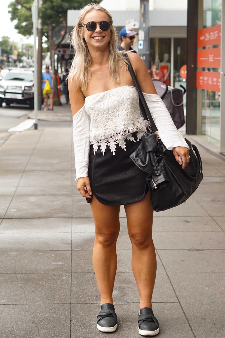 "VIC: Laura Johnston, Receptionist, Chapel Street South Yarra. ""I never wear heels."""