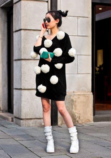 Shanghai: pom-pom dress dress: www.styleborn.net