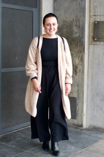 "Adelaide: Tahlia Svingos , Digital Marketing Co-ordinator, Ebenzer Place. ""Taxi's here."""