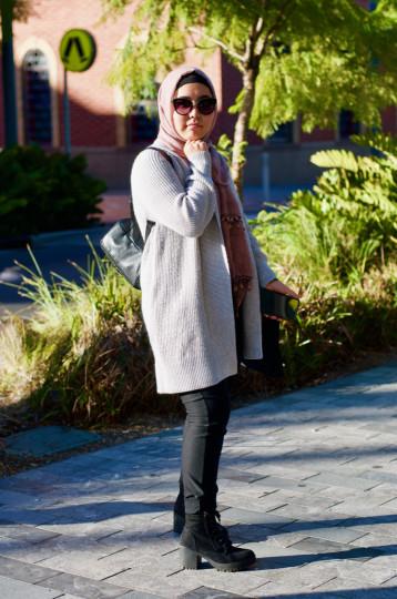 "SA: Fatemeh Ghanbari, Architecture Student, Hindley St. ""Casual."""
