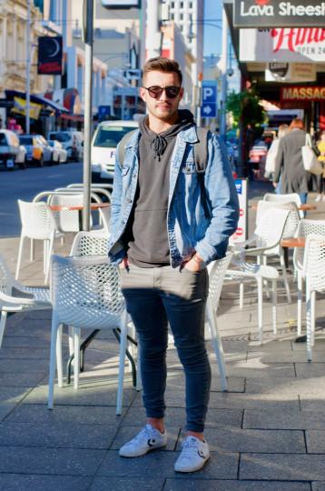 "SA: Lewis Engaleou, Law & Commerce Student, Hindley St. ""Basic."""
