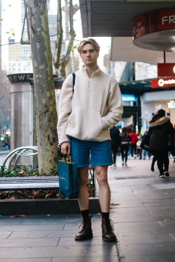 "Vic: Daniel, Hair Stylist, Cnr Bourke & Swantston Streets. ""Yeezy Vibes."""